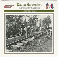 1995 Atlas, Civil War Cards, #111.04 Raid on Murfreesboro, Tennessee