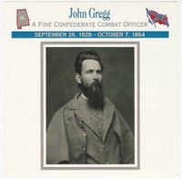 1995 Atlas, Civil War Cards, #111.12 General John Gregg, Alabama