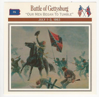 1995 Atlas, Civil War Cards, #112.05A Battle Gettysburg, General Barksdale