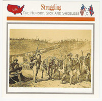 1995 Atlas, Civil War Cards, #116.09 Straggling