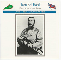 1995 Atlas, Civil War Cards, #116.10 General John Bell Hood