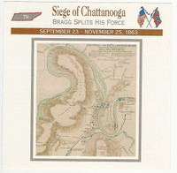1995 Atlas, Civil War Cards, #117.04 Siege of Chattanooga, Tennessee