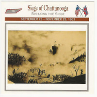 1995 Atlas, Civil War Cards, #117.05 Siege of Chattanooga, Tennessee