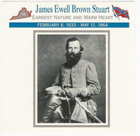 1995 Atlas, Civil War Cards, #117.11 General Jeb Stuart
