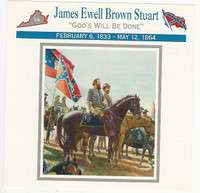 1995 Atlas, Civil War Cards, #117.12 General Jeb Stuart