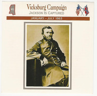 1995 Atlas, Civil War Cards, #118.04A Vicksburg Campaign, General Grant