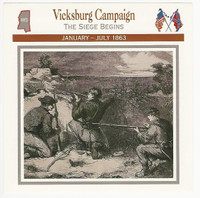 1995 Atlas, Civil War Cards, #118.05 Vicksburg Campaign, Mississipi