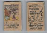 F28-10 Post Cereal, Flip Movies, 1949, #6 Barney Bear, Untrained Seal