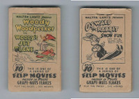 F28-10 Post Cereal, Flip Movies, 1949, #10 Woody Woodpecker, Jet Plane