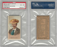 N33 Allen & Ginter, Worlds Smokers, 1888, Brazilian, PSA 6 EXMT