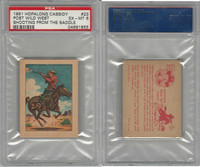 F278-12 Post Cereal, Hopalong Cassidy Wild West, 1951, #23, PSA 6 EXMT