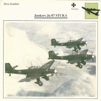 1990 Edito-Service, War Planes Cards, Airplanes, #02.01 Junkers Ju87 Stuka