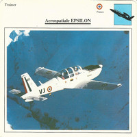 1990 Edito-Service, War Planes Cards, Airplanes, #02.13 Aerospatiale Epsilon