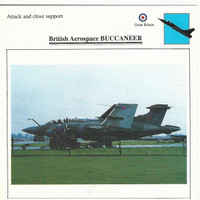 1990 Edito-Service, War Planes Cards, Airplanes, #03.10 Aerospace Buccaneer