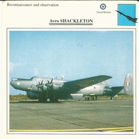 1990 Edito-Service, War Planes Cards, Airplanes, #03.15 Avro Shackleton