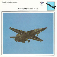 1990 Edito-Service, War Planes Cards, Airplanes, #05.01 General Dynamics F111