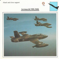 1990 Edito-Service, War Planes Cards, Airplanes, #05.03 Aermacchi MB326K