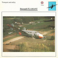 1990 Edito-Service, War Planes Cards, Airplanes, #06.13 Dassault Flamant