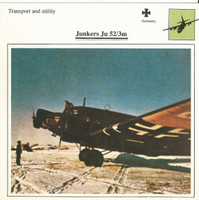 1990 Edito-Service, War Planes Cards, Airplanes, #06.20 Junkers Ju 52/3m