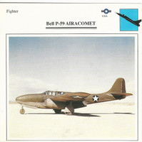 1990 Edito-Service, War Planes Cards, Airplanes, #07.02 Bell P-59 Airacomet