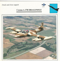 1990 Edito-Service, War Planes Cards, Airplanes, #07.06 Cessna A-37B Dragonfly