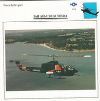1990 Edito-Service, War Planes Cards, Airplanes, #08.16 Bell AH1 Seacobra