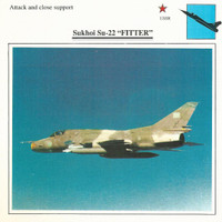 1990 Edito-Service, War Planes Cards, Airplanes, #09.02 Sukhoi Su-22 Fitter