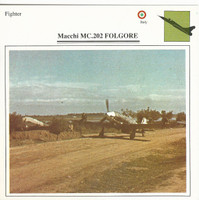 1990 Edito-Service, War Planes Cards, Airplanes, #10.06 Macchi MC202
