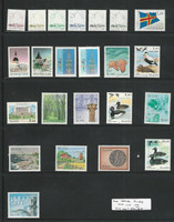 Aland - Finland, Postage Stamp, #1-22 Mint NH, 1984-90 Ships, Ducks, Flag