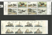 Aland - Finland, Postage Stamp, #112b, 165b Mint NH, 1995 Booklets, Ship