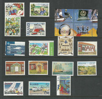 Aland - Finland, Postage Stamp, #138-151, 153-160 Mint NH, 1998-2000