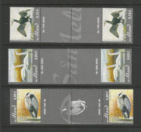 Aland - Finland, Postage Stamp, #230-232 Gutter Pairs Mint NH, 2005 Bird