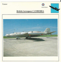 1990 Edito-Service, War Planes Cards, Airplanes, #11.04 Aerospace Canberra