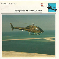 1990 Edito-Service, War Planes Cards, Airplanes, #11.06 Aeropatiale Helicopter