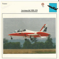 1990 Edito-Service, War Planes Cards, Airplanes, #11.08 Aermacchi MB-339