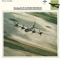 1990 Edito-Service, War Planes Cards, Airplanes, #12.19 Boeing B-29 Superfortress