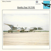 1990 Edito-Service, War Planes Cards, Airplanes, #12.20 Handley Page Victor