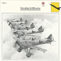 1990 Edito-Service, War Planes Cards, Airplanes, #18.14 Dewoitine D.500