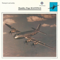 1990 Edito-Service, War Planes Cards, Airplanes, #18.17 Handley Page Hastings
