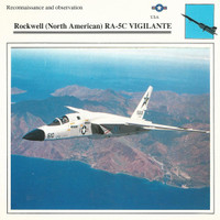 1990 Edito-Service, War Planes Cards, Airplanes, #19.01 Rockwell RA-5C
