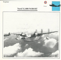 1990 Edito-Service, War Planes Cards, Airplanes, #27.03 Nord N.1400 Noroit
