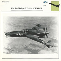 1990 Edito-Service, War Planes Cards, Airplanes, #27.09 Curtiss Wright XP-55