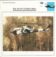 1990 Edito-Service, War Planes Cards, Airplanes, #28.02 Bell AH-1W Supercobra