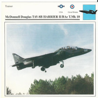 1990 Edito-Service, War Planes Cards, Airplanes, #28.08 McDonnell TAV-8B Harrier
