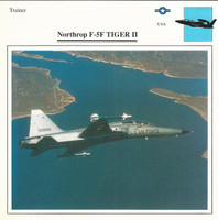 1990 Edito-Service, War Planes Cards, Airplanes, #28.11 Northrop F-5F Tiger