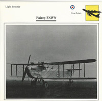 1990 Edito-Service, War Planes Cards, Airplanes, #35.06 Fairey Fawn