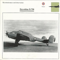 1990 Edito-Service, War Planes Cards, Airplanes, #35.14 Dewoitine D.750