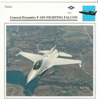 1990 Edito-Service, War Planes Cards, Airplanes, #36.07 General Dynamics F-16N