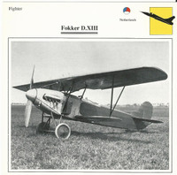 1990 Edito-Service, War Planes Cards, Airplanes, #37.12 Fokker D.XIII