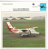 1990 Edito-Service, War Planes Cards, Airplanes, #39.06 Let L-410 Turbolet